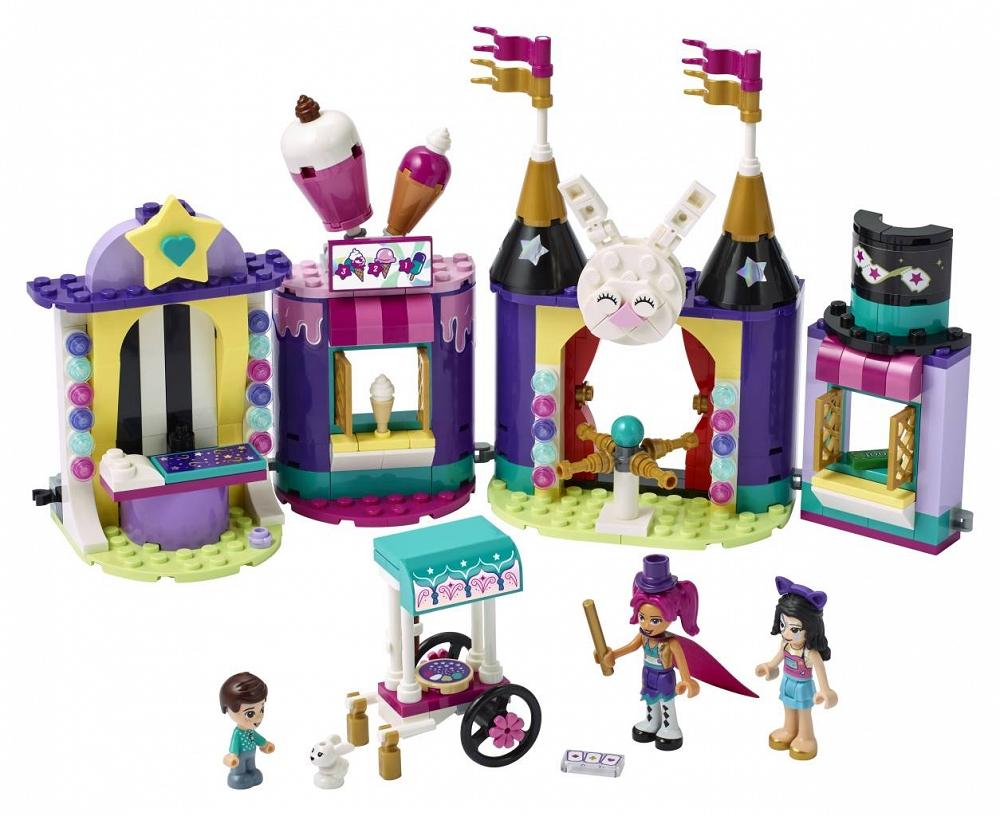 Zestaw LEGO Friends Stoiska w wesołym miasteczku 41687 - sklep z zabawkami krainazabawek24.pl