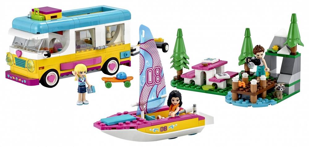 Zestaw LEGO Friends Leśny mikrobus kempingowy 41681 - sklep z zabawkami krainazabawek24.pl