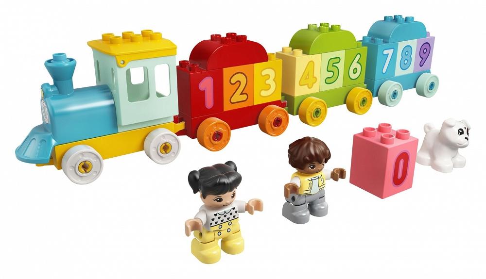 LEGO DUPLO Pociąg z cyferkami nauka liczenia 10954 - sklep z zabawkami krainazabawek24.pl